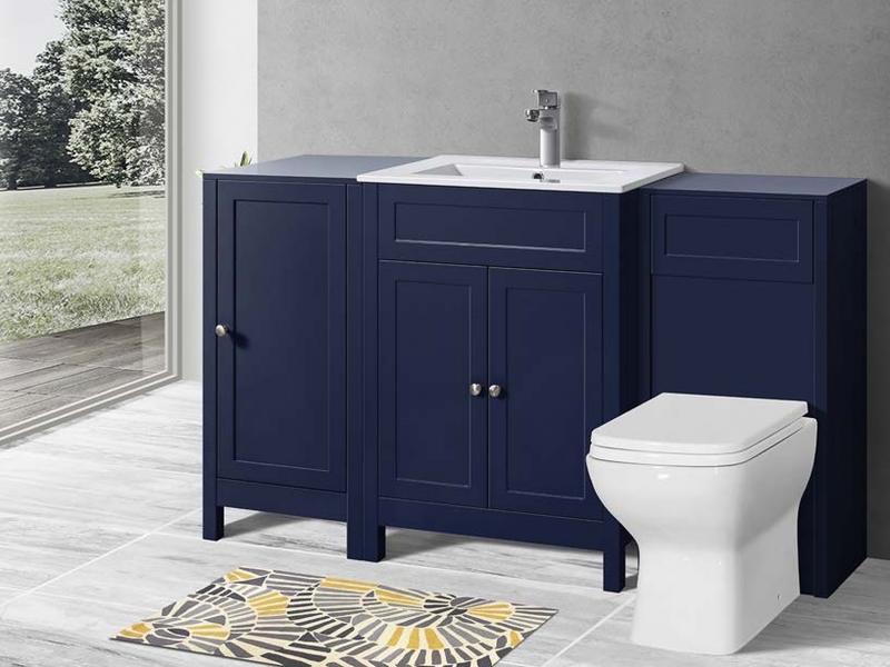 Keenware Kvu 058 Sapphire Blue Chelsea Shaker Style Tall Bathroom Vanity Side Cu Ebay