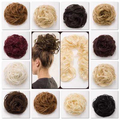 koko curly hair twirl scrunchie 24 clip in elastic band wrap around updo ebay. Black Bedroom Furniture Sets. Home Design Ideas